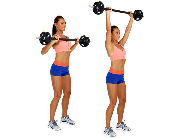 standing military barbell press
