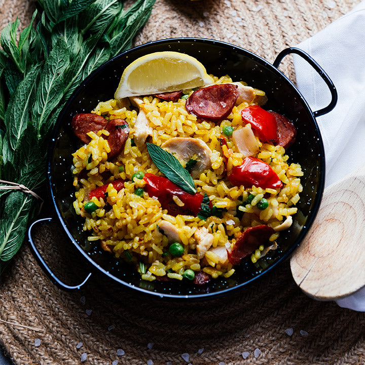 Paella with Chorizo & Chicken