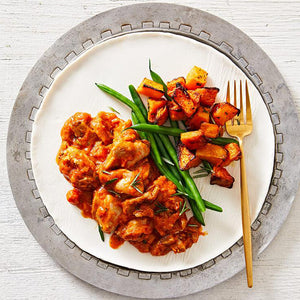 Chicken Cacciatore & Roast Pumpkin