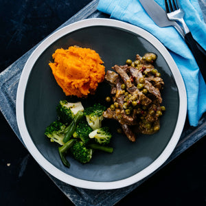 Lean Steak with Sweet Potato & Greens