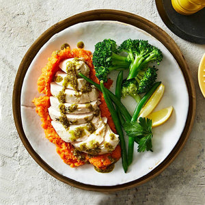 Lean Chicken with Sweet Potato & Greens
