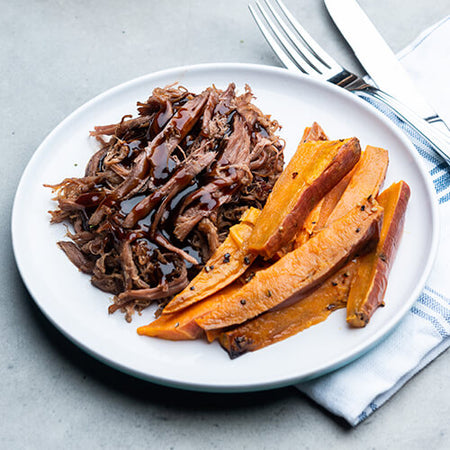 Pulled Beef & Sweet Potato Chips