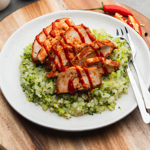 Portuguese Chicken with Broccoli Rice
