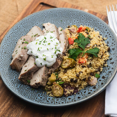 Oregano Chicken with Greek Couscous