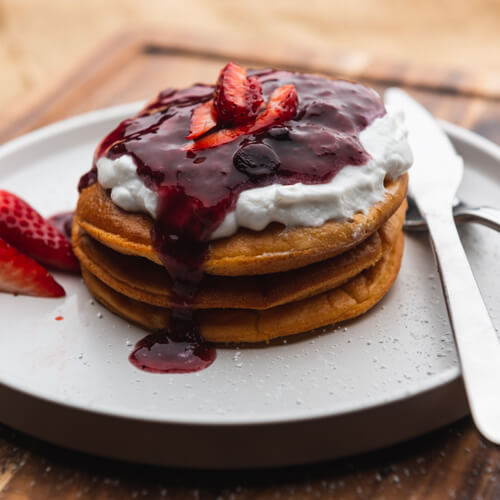 Protein Pancakes with Mixed Berries