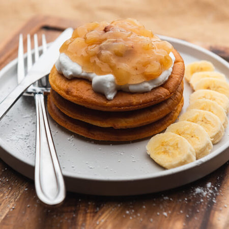 Protein Pancakes Spiced Apple Compote