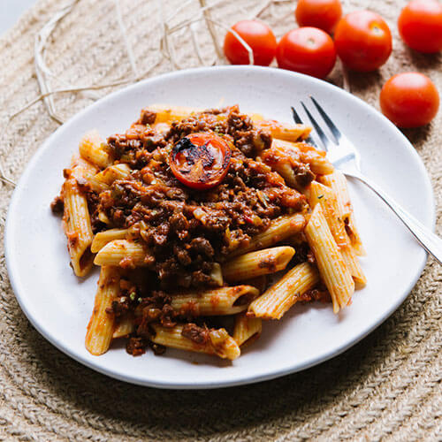 Penne with Bolognese