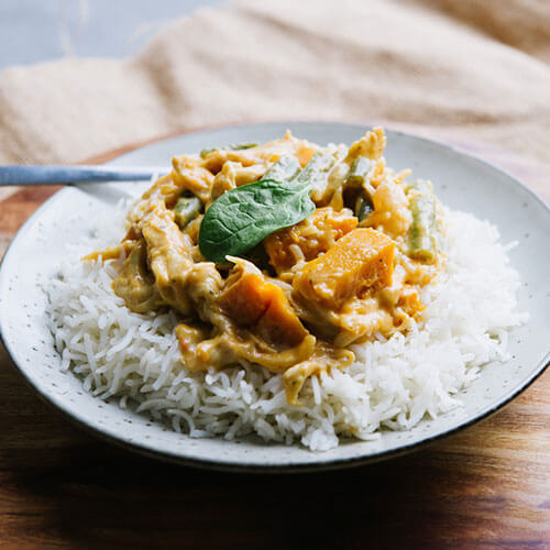 VEGAN Thai Red Curry with Soy Chicken