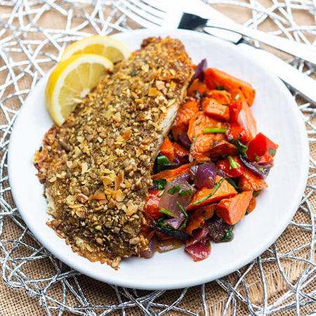 Herb Crusted Barramundi & Roasted Veg