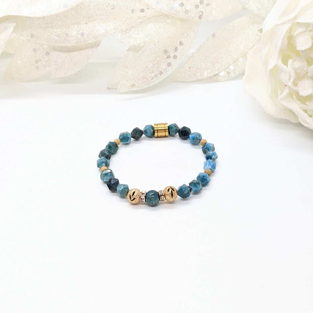 Apatite and Gold Will Power Bracelet - Art by Autumn M.Bracelet