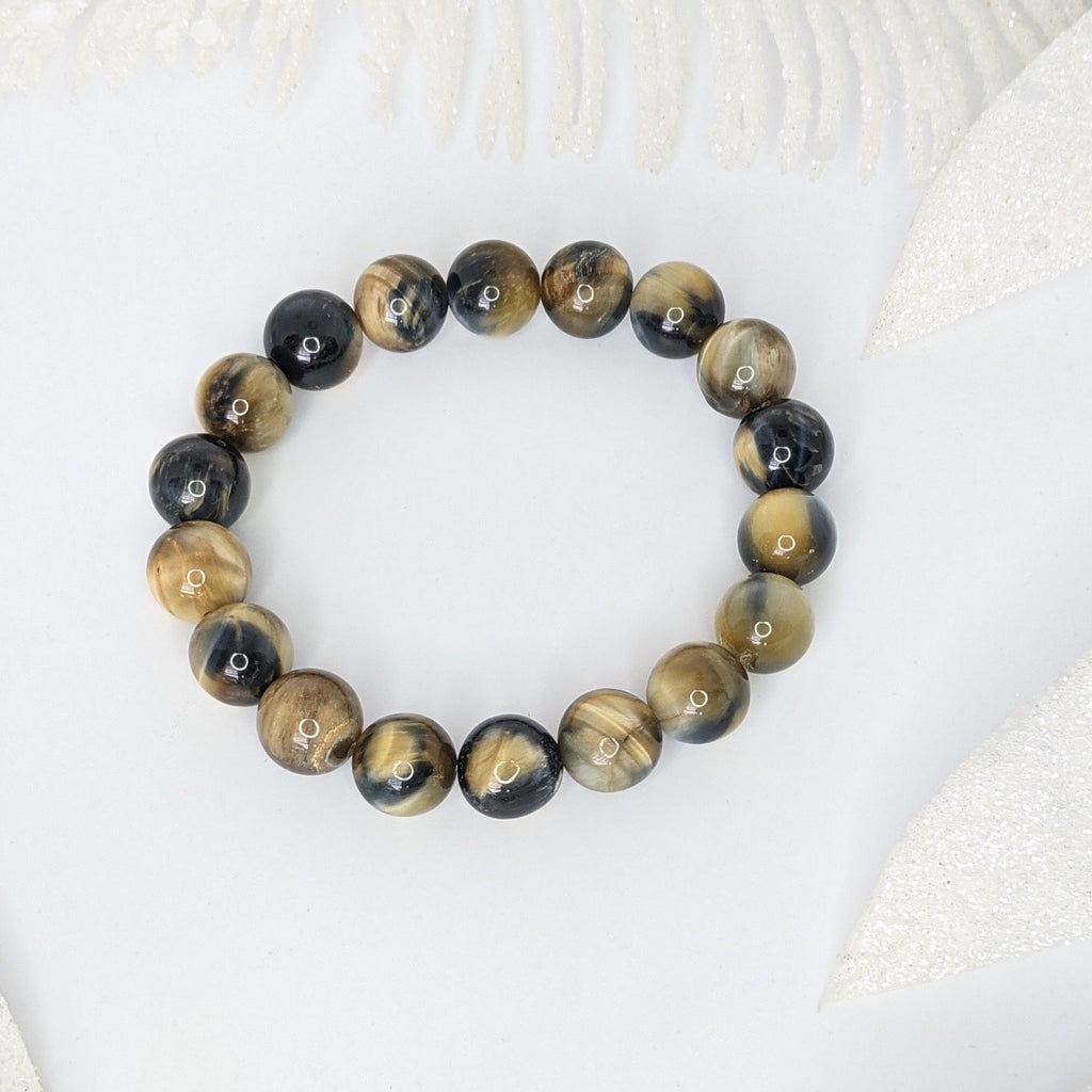 Blue and Yellow Tiger's Eye Soothing Bracelet - Art by Autumn M.Bracelet