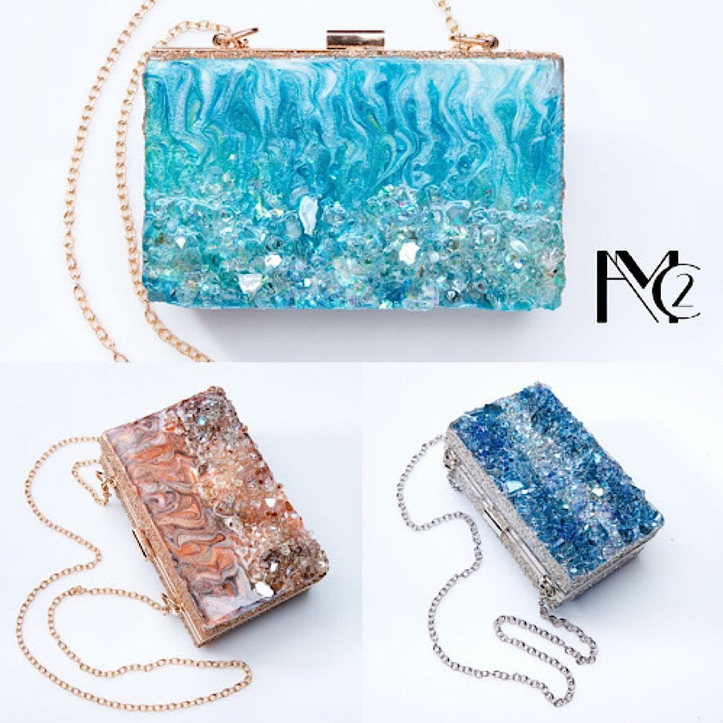 Custom Clutch Crystal Add On 2 Sides - Art by Autumn M.Clutch