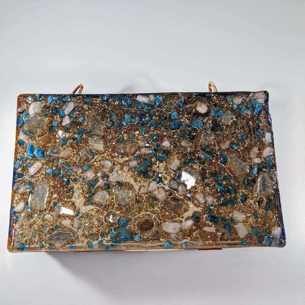 Gold Custom Clutch - Art by Autumn M.Clutch