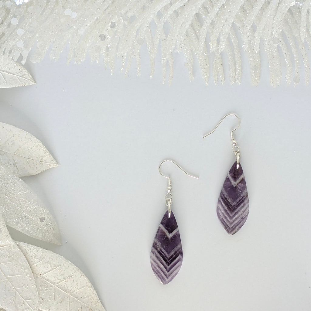 Amethyst Dangle Earrings - Art by Autumn M.