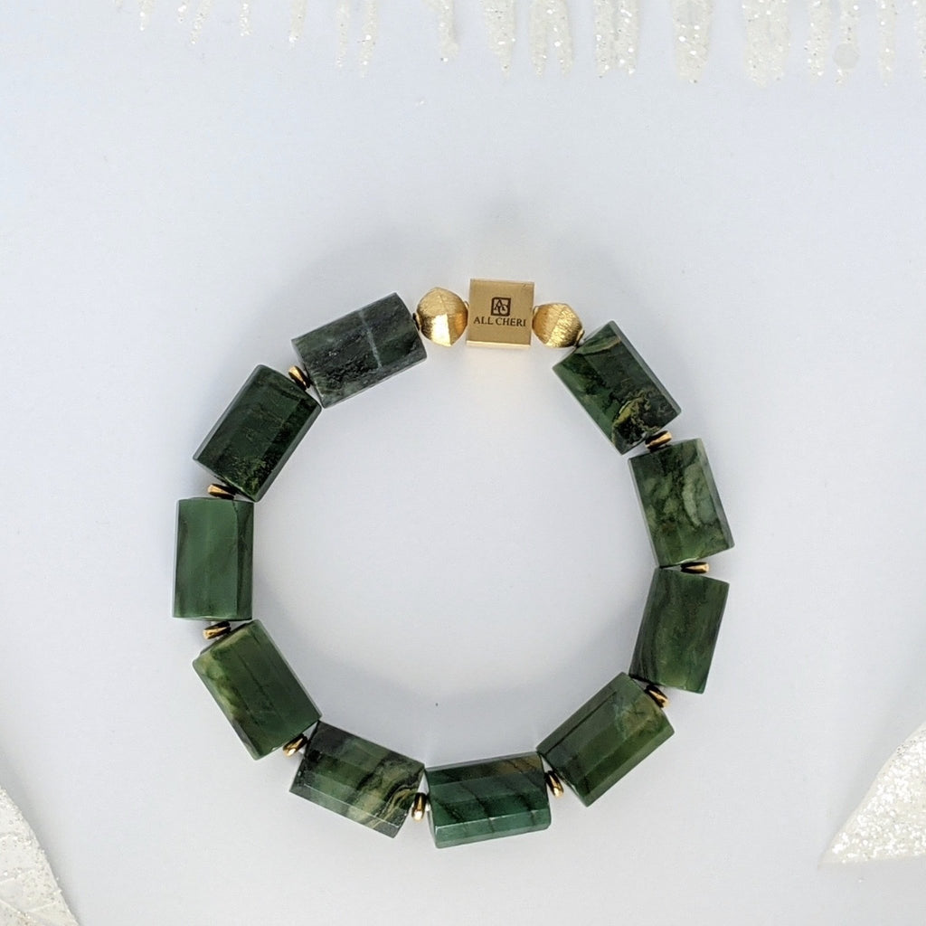 Jade and Gold Luck Bracelet - Art by Autumn M.Bracelet