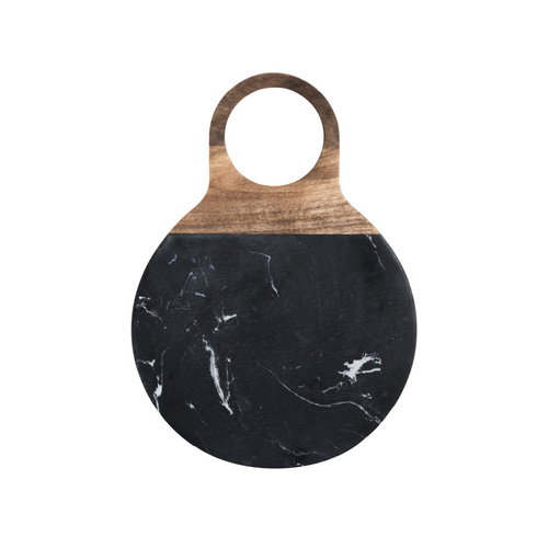 Maku Round Acacia & Marble Serving Board