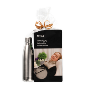 Finnish Wheat Pillow and Thermos Bottle Gift Set