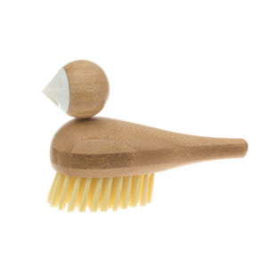 Bamboo Bird-Shaped Dish Brush