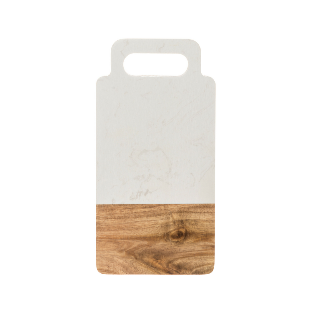 Acacia & White Marble Chopping Board
