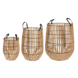 "Wooden Storage Baskets 3-Piece Set ""Runa"""