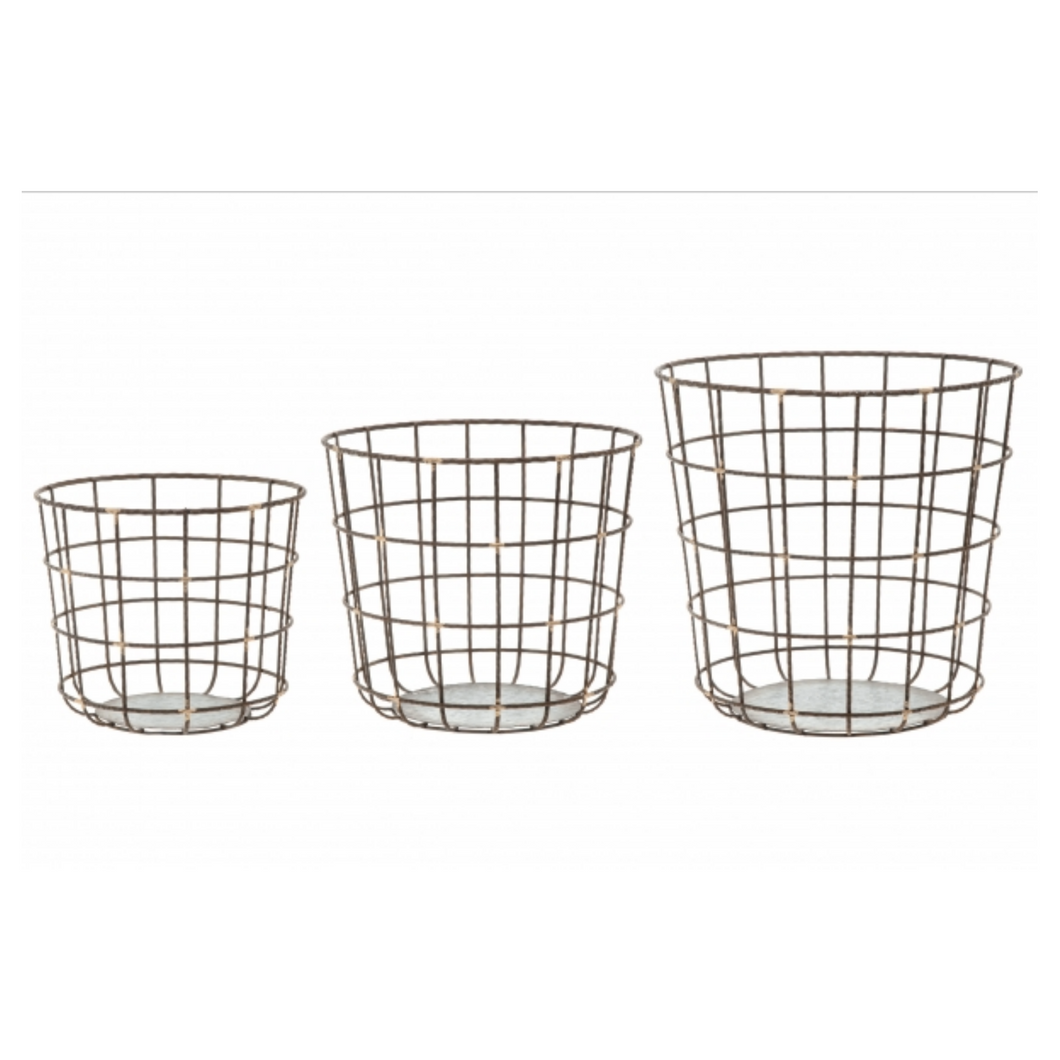 FANNI K Metal Basket 3-Piece Set