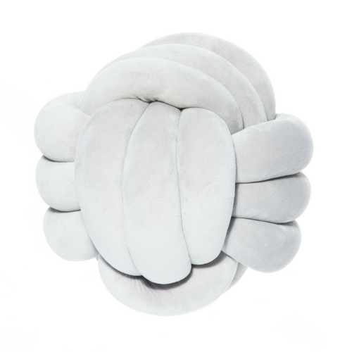 Fanni K Knot Cushion Grey