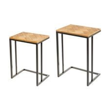 Fir Wood & Metal Table Set