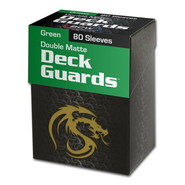 BCW Deck Guard Sleeves - Matte Green (Standard Size)