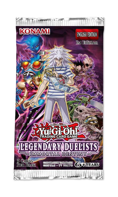 Yugioh - Legendary Duelists: Immortal Destiny Single Booster Pack *Sealed*