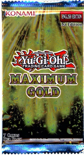 Yugioh! - Maximum Gold Single Booster Pack *Sealed*
