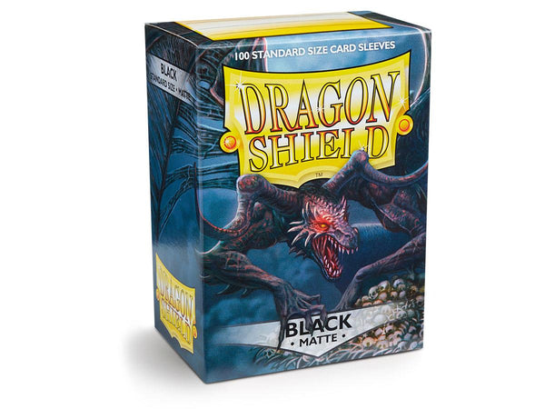 Dragon Shield Sleeves - Matte Black (Standard Size 100 Pack)