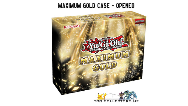 Yugioh! Boxed Sets & Tins: Maximum Gold CASE *OPENED* (PRE-ORDER, SHIPS 12/11/2020)