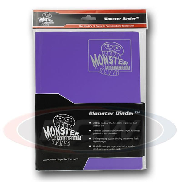 Monster 9-Pocket Matte Album - Purple