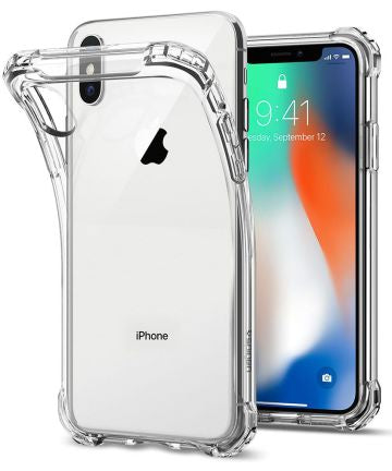 Rugged Crystal Case Apple iPhone X Transparant, iphone x hoesje