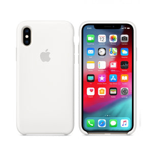 IPhone XS siliconen hoesje wit