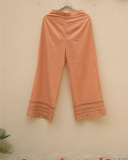 Lacey Daisy Pants - Peach