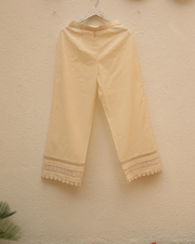 Lacey Daisy Pants - Off-White