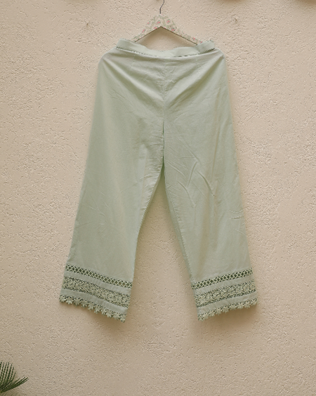Lacey Daisy Pants - Mint Green