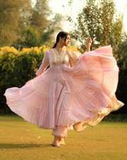 Dahlia Kurta - Light Pink