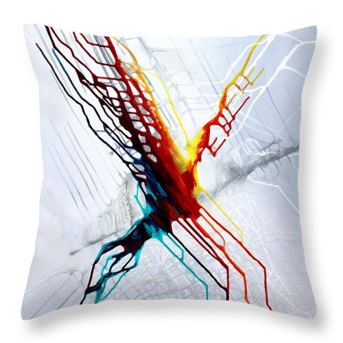 The Eruption Of Color - Throw Pillow