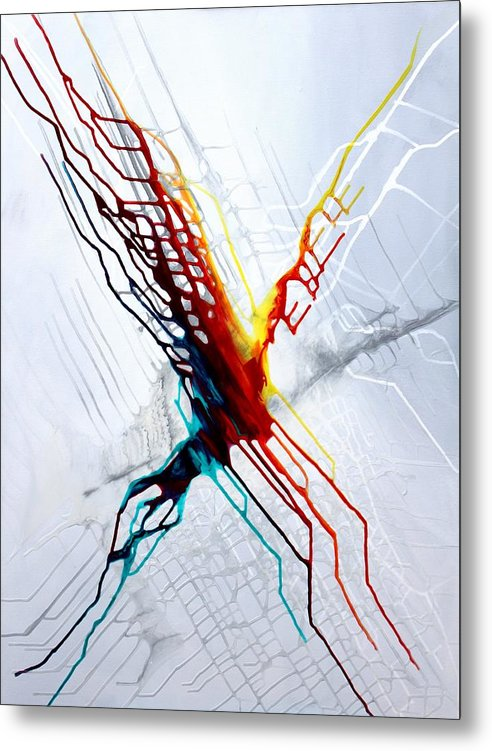 The Eruption Of Color - Metal Print