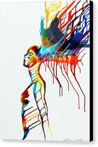 The Goddess Of Color - Canvas Print