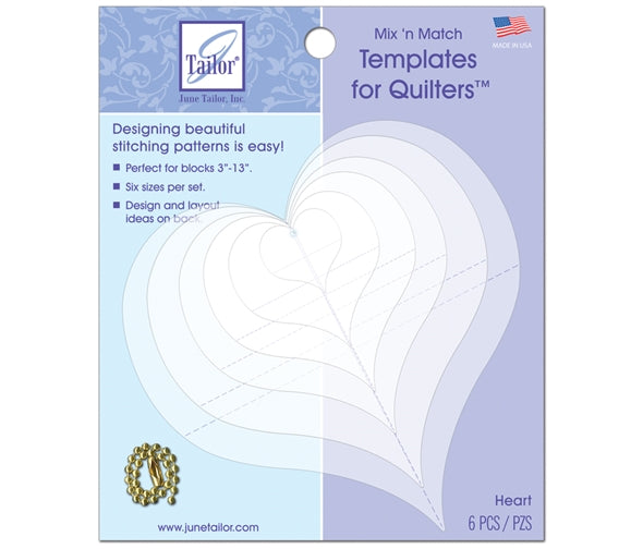 June Taylor Mix & Match Quilting Templates -  Hearts