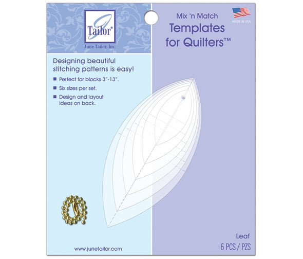 June Taylor Mix & Match Quilting Templates -  Leaf