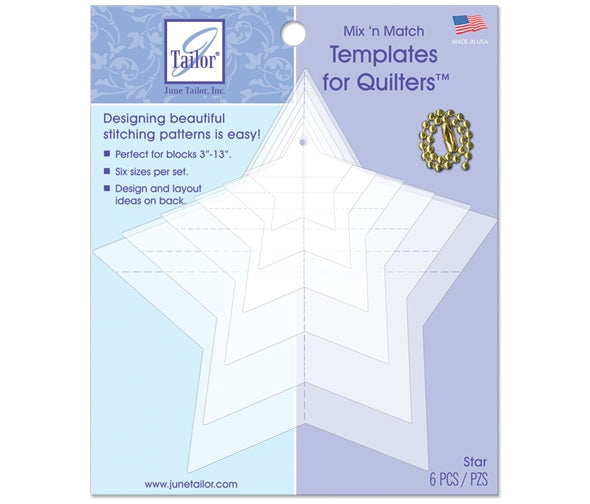 June Taylor Mix & Match Quilting Templates -  Star