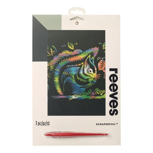 Reeves Rainbow Scraper Foil - squirrel