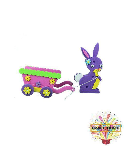 3D Foam Kit-simple-Craft Crate UK-Bunny & Cart-Craft Crate