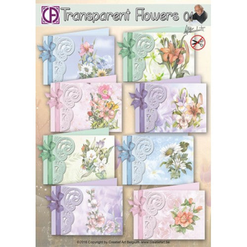 Transparent Flowers Card Kit