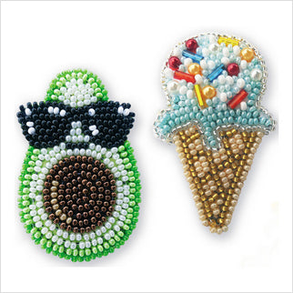 Bead Embroidery - Brooches
