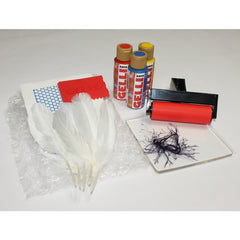 Gelli Art Feather Printing Kit